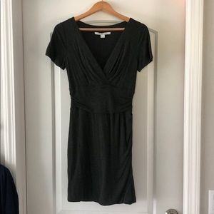 DVF grey crossfront stretch super soft dress